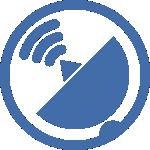 icono de telecomunicaciones, antenas y telefonía