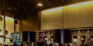 iluminación de local comercial, carma bueu