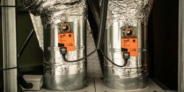 detalles de instalaciones de ventilación.